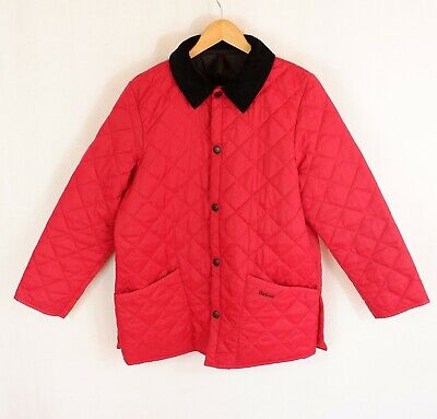 Kids Barbour Liddesdale Quilted Jacket XXL Red
