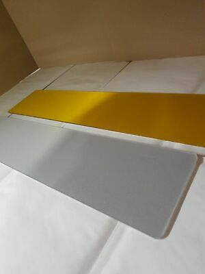 PAIR of BLANK Front White & Rear Yellow Number Plate Plates for Show 3D 4D Gel