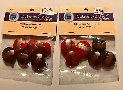 2 Packs Of  Bauble Buttons By Buttons Galore