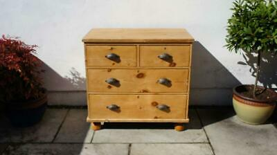 Small Victorian  pine chest of drawers, refurbished  rustic, VGC
