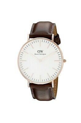 Daniel Wellington 0109DW 40mm, Cassa in Accaio Inossidabile/Oro Rosa