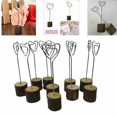 Table Wooden Card Holder 10pcs Wood Place Desk Wedding Parties Number Photo