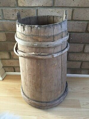 Vintage Wooden Barrel - Wedding - Post Box - Garden