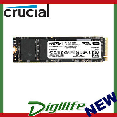 Crucial P1 500GB NVMe M.2 2280 PCIe 3D NAND SSD CT500P1SSD8