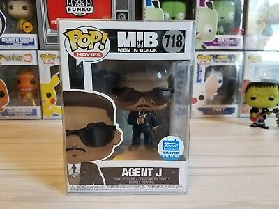 Funko PoP! Men In Black ~ Agent J #718 ~ Funko Shop Exclusive w/ Pop Protector!