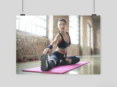 Gym Hot Sexy Girl Poster Yoga Sport Fitness  Size A4 A3