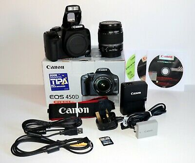 Canon EOS 450d DSLR 12.2 MP Camera EFS 18-55mm f/1:3.5-6 IS Lens 2070 Actuations