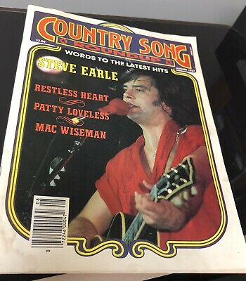 COUNTRY SONG ROUNDUP -STEVE EARL - RESTLESS HEART  - August 1987