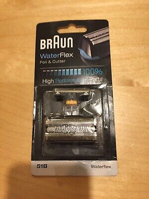 Genuine BRAUN Series 5 Foil & Cutter 51B Replacement Head Waterflex New