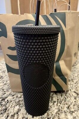 Brand New Fall 2019 Starbucks Matte Black Studded Tumbler Cup Limited Edition!