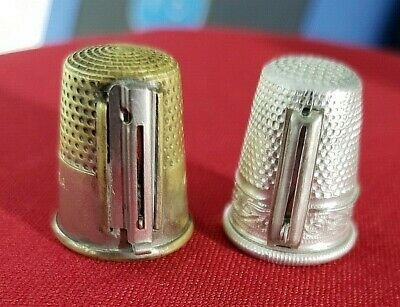 Metal Thimbles that also are Needle Threaders!