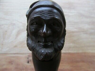 Antique Pirate  Nutcracker Hand Carved Wood Black Forest