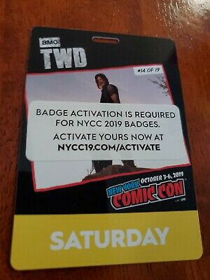NYCC 2019 Saturday Badge New York Comic Con 2019 (Please Read Description!!!)