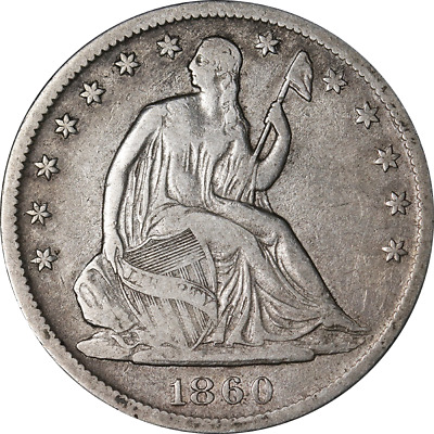 1860-S Seated Half Dollar Great Deals From The Executive Coin Company - BBHE6170