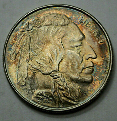 1 Troy Oz 999 Fine Silver Round,Liberty, Indian Head,Buffalo/Bison Natural Toned