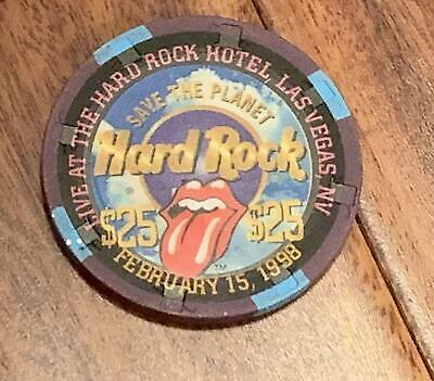 Hard Rock Las Vegas $25 Casino Chip - Rolling Stones 1998 - GREAT Looking Chip !