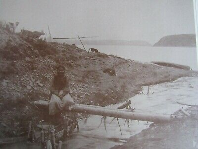 1800'S Northern Canadian Aboriginal Fish Trap Slave River Photo Print 14 X 11