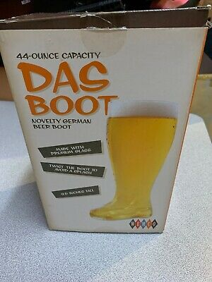 Das BOOT BEER GLASS 44oz. BRAND NEW IN BOX Wembley Casino and Lounge Collection