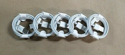 LOT 5 OEM iPhone Charger Cables X XS Max XR 7 8 Plus Lightning Sync Data Cord