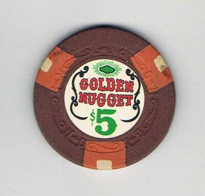Golden Nugget $5 Casino Chip - Las Vegas 1968 9th Issue GN - Books $175-$200