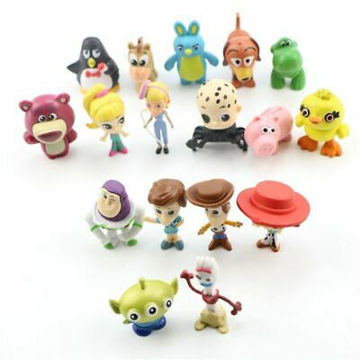 17pcs Toy Story 4 Collectible Figures Woody Jessie Forky Ducky Bunny Cake Topper