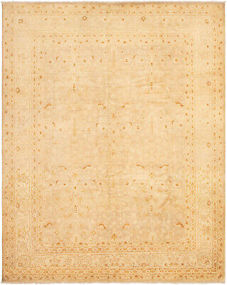 """Hand-knotted Afghan Carpet 8'1"""" x 10'0"""" Chobi Finest Traditional Wool Rug"""