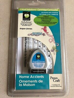 Cricut Solutions Cartridge - Home Accents - Sealed - Not Linked