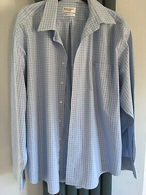 yves saint laurent Blue Checked Shirt Cotton Xxl