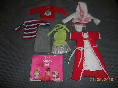 VINTAGE PEDIGREE SINDY DOLL CLOTHES SOME 1960's OTHERS LATER - GOOD ORDER