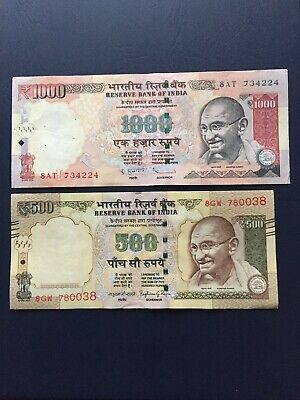 Circulated Indian Rupees 500 Bank Note. Ideal For Collection Purposes.