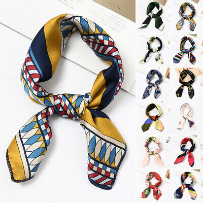 Women Scarf Ladies Formal Scarf Hair Tie Band Decoration Vintage Neck Small