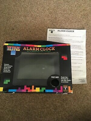 Tetris Alarm Clock With Instructions And Box