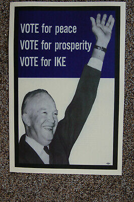 Dwight D Eisenhower #1 campaign poster 1956 Ike