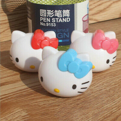 Cute Hello Kitty Head Pencil Sharpener Student School Stationery Kids Girls Gift