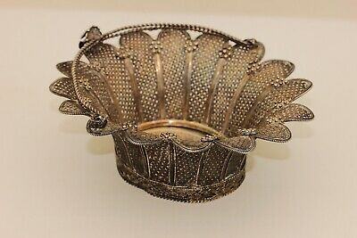 Antique Original Perfect Silver Armenian And Ottoman Amazing Filigree Sugar Bowl