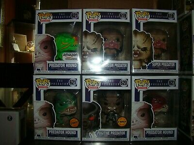 Funko Pop Predator Lot #2 With Exclusives And Chase-With Pop Protectors