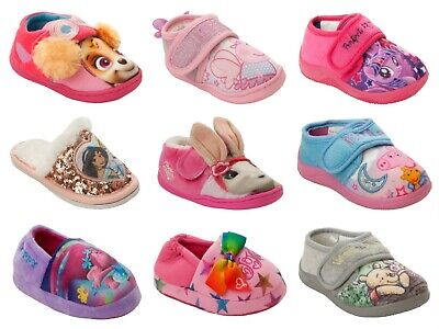 Girls Official Branded Cartoon Character Novelty Slippers Infants Kids Size 5-2