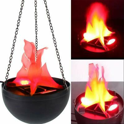 LED Hanging Flame Lamp Light Fake Fire Stage Halloween Prop Decor Electric 12v