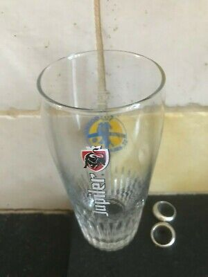 Jupiler glas verre beer glass dosko St Kruis 25 cl 2017 soccer team