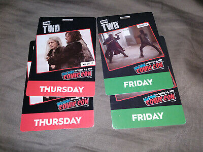 NYCC New York Comic Con 2019 2x Thur and Friday Badges -  Fan Verified