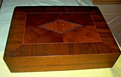 Antique Wood Inlaid Large Box. VERY Pretty!