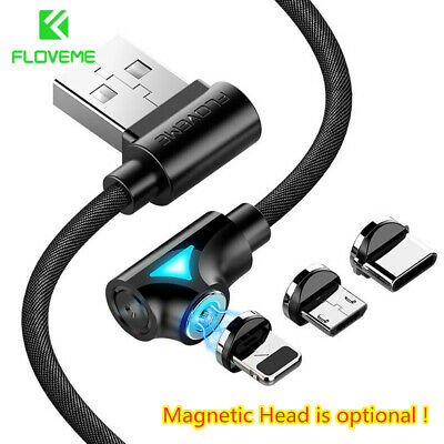 FLOVEME Magnetic Lightning Type C Micro USB Cable Charger For iPhone Samsung LG