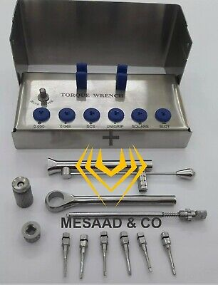 NEW Universal Adapter & Dental Implant Torque Wrench & Drivers Kit +A Quality