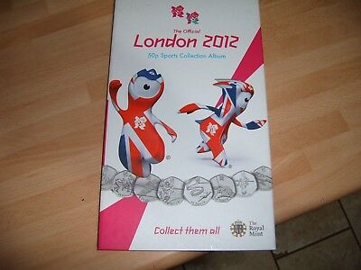 FULL SET OF 29 LONDON  2012 OLYMPICS 50p COINS + ALBUM