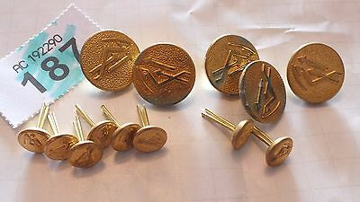 Gold Coloured JOB LOT OF BUTTONS - AS PICS  - B187
