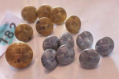 Gold & Silver Coloured JOB LOT OF BUTTONS - AS PICS  - B182