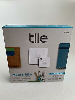Tile Bluetooth Tracker Combo (Slim & Mate) - 4 Pack: