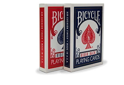 4 Decks Bicycle Rider Back Standard Index Playing Cards 3 Red/1Blue New 808