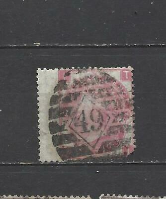 British Queen victoria old stamp 3 penny red SG103 plate 4 GB rare plate