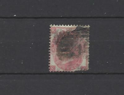 British Queen victoria old stamp 3 penny red SG103 scarce plate 4 GB